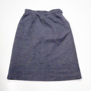 Pendleton Speckled Navy Vintage Wool Skirt Size 14